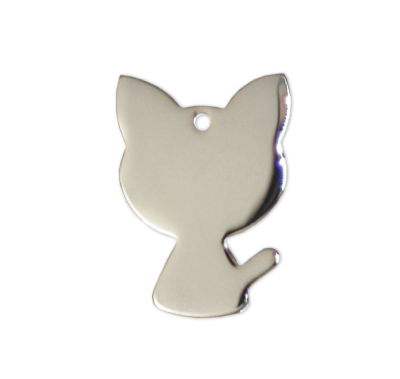 Cat Tags - Silver - 22mm - (10 pieces)