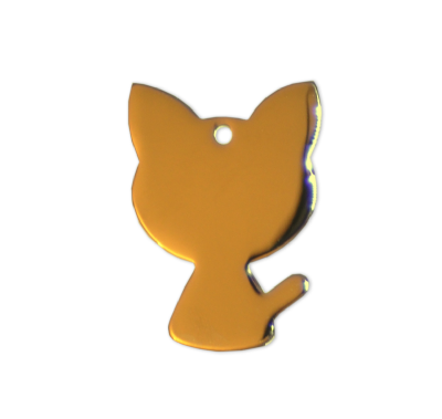 Cat Tags - Gold - 22mm - (10 pieces)