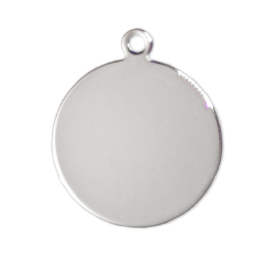 Circular Tags - Silver - 27mm - (10 pieces)