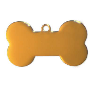 Dog Bone Tags - Gold - 37mm - (10 pieces)