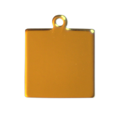 Square Tags - Gold - 20mm - (10 pieces)