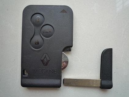 Renault 2002-2006 Megane2, Scenic 2 3 button Card Aftermarket