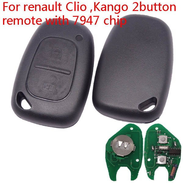 Renault 2 button remote Aftermarket from 2000